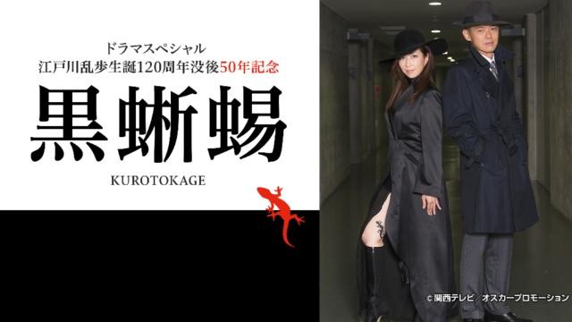 江戸川乱歩生誕120周年没後50年記念 ドラマスペシャル 黒蜥蜴の視聴可能な動画配信サービスまとめ。